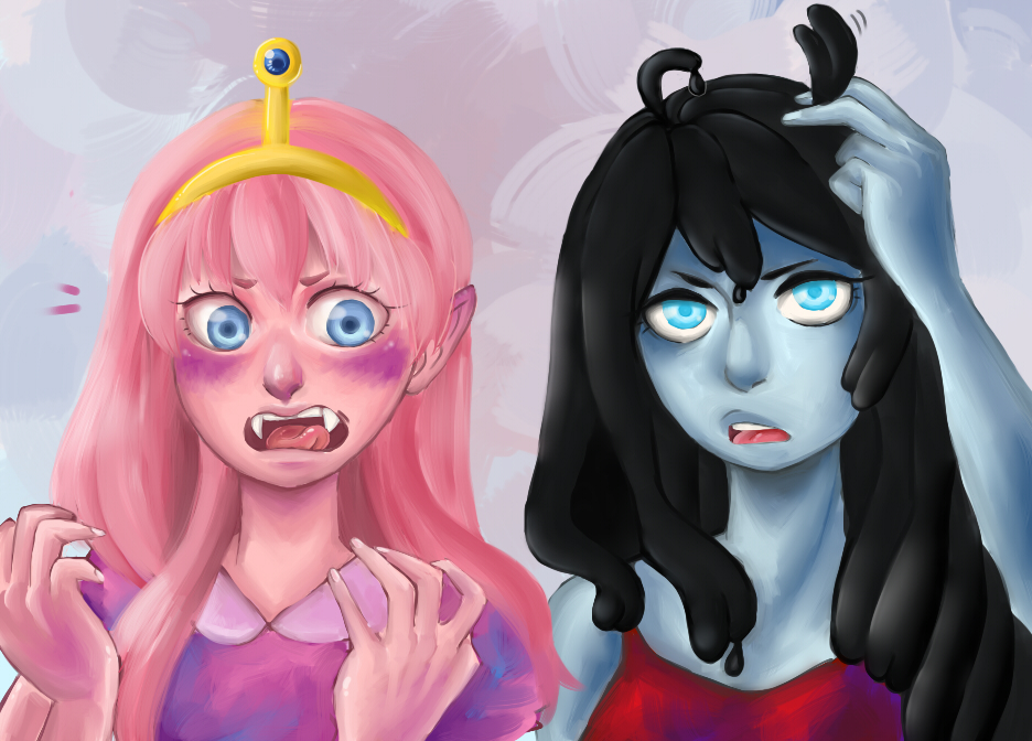 Marceline and Princess Bubblegum by faycoon