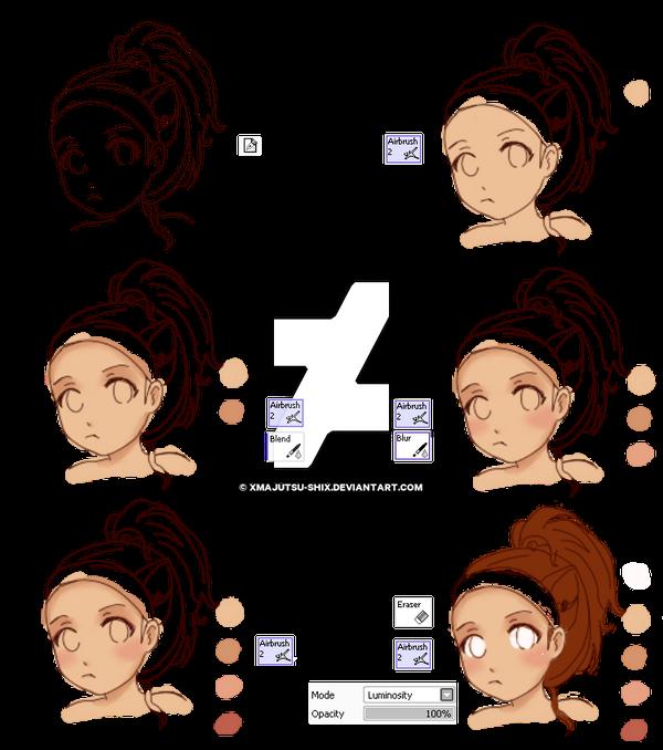 anime skin shading tutorial by xmajutsu shix on deviantart