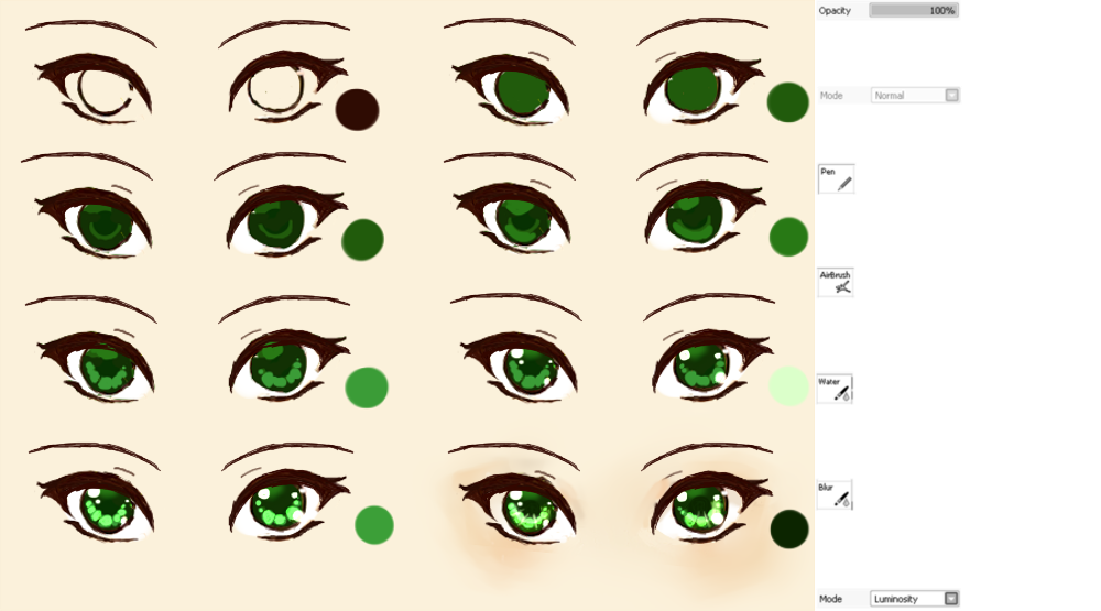 Anime eye tutorial by xmajutsu shix