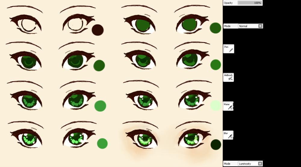 Anime Eye tutorial by XMajutsu-shiX on DeviantArt  Anime Eye tutor...