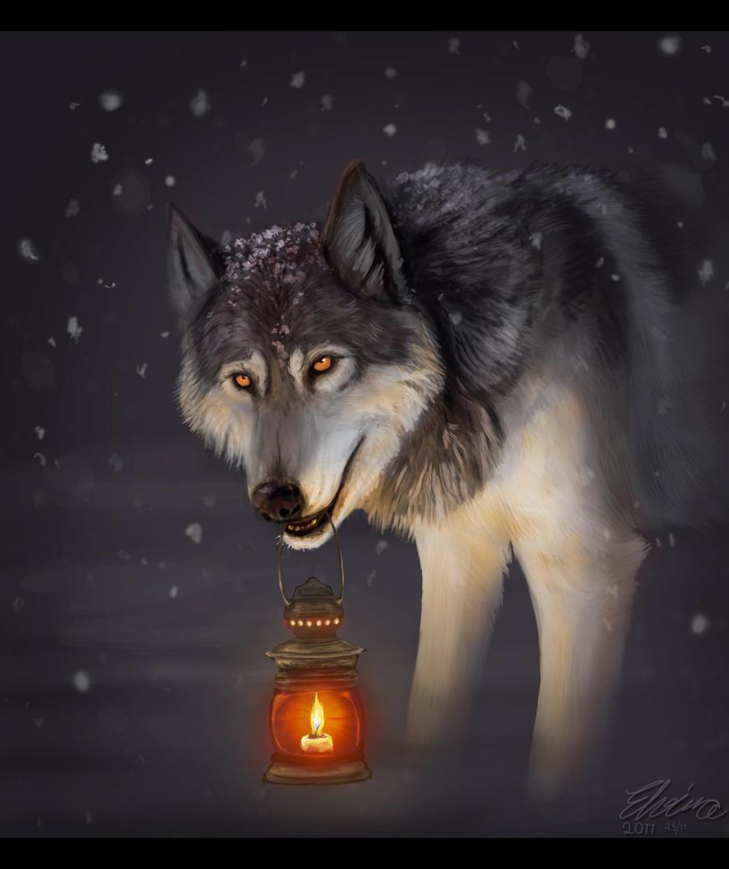 Christmas Wolf by Neovirah on DeviantArt