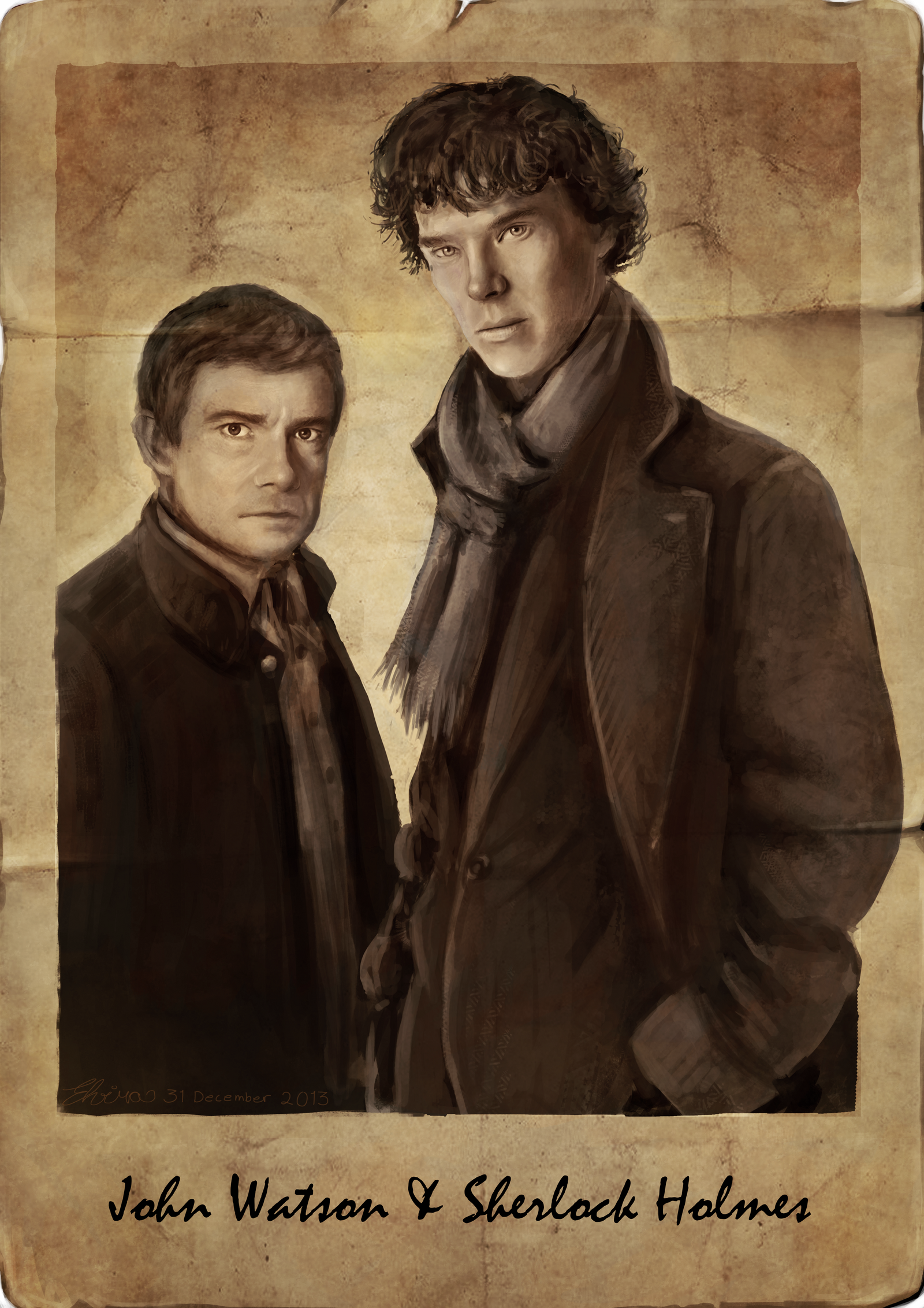 John Watson and Sherlock Holmes by WolfHowl10