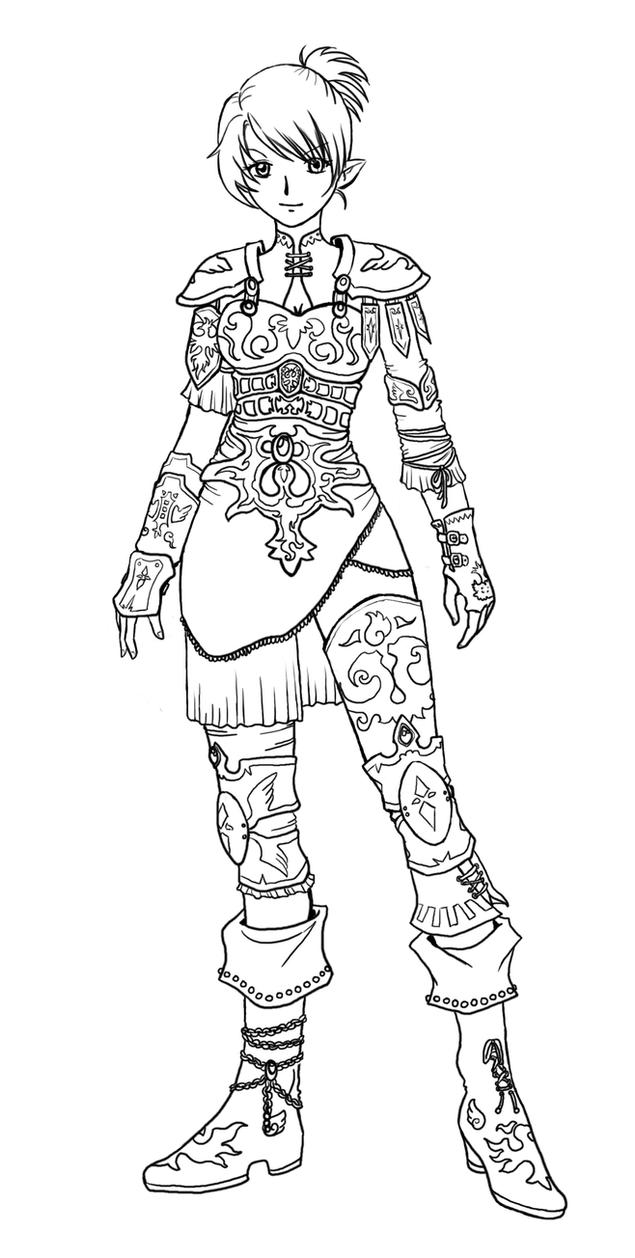 Line Art Xl 2011 : Fantasy armor lineart by ladindequichante on deviantart