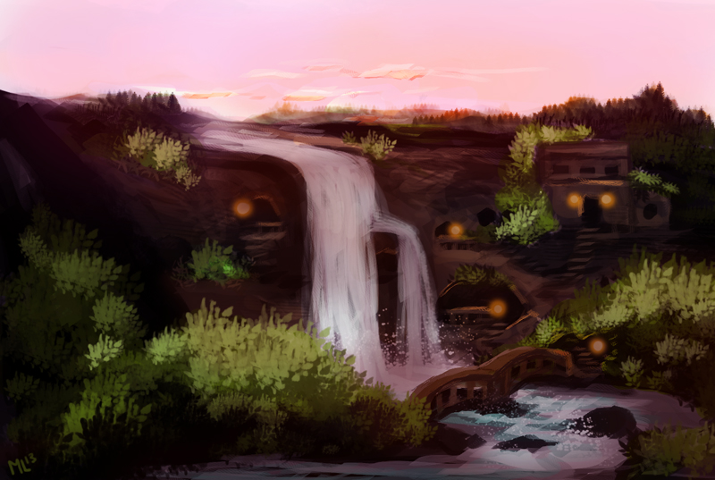 Sunset Valley (speedpaint) by ladindequichante