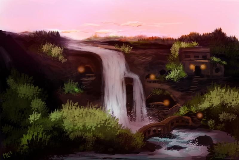 Sunset Valley (speedpaint) by ladindequichante