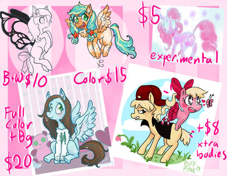 Price List by PuffPink