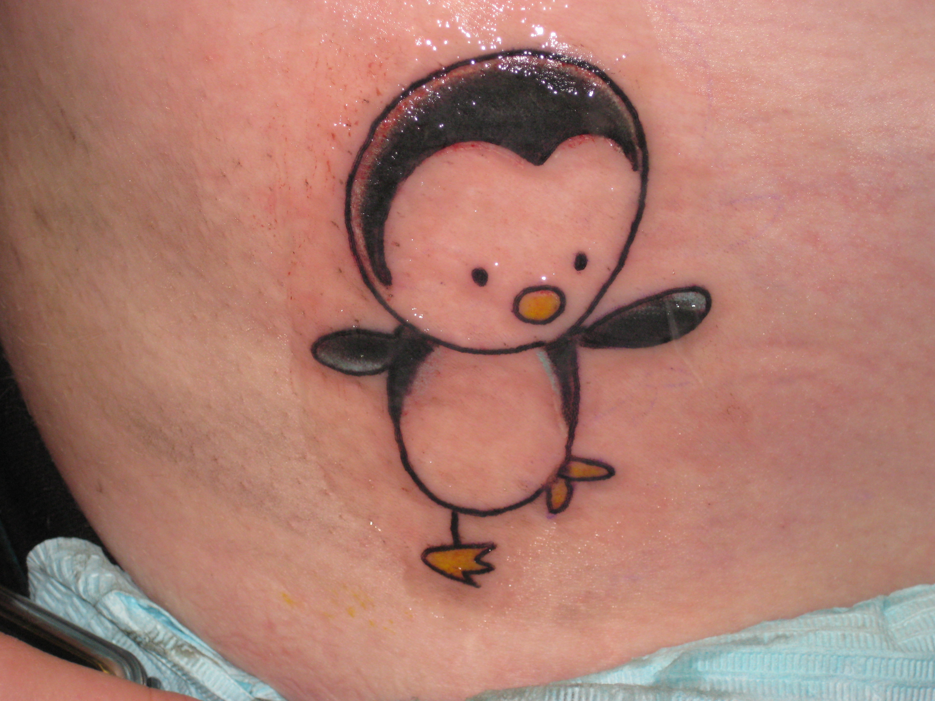 penguin tattoo finished by princess darkness3 on deviantart. Black Bedroom Furniture Sets. Home Design Ideas