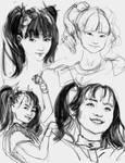 15 min face sketches mar 11