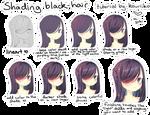 shading black hair