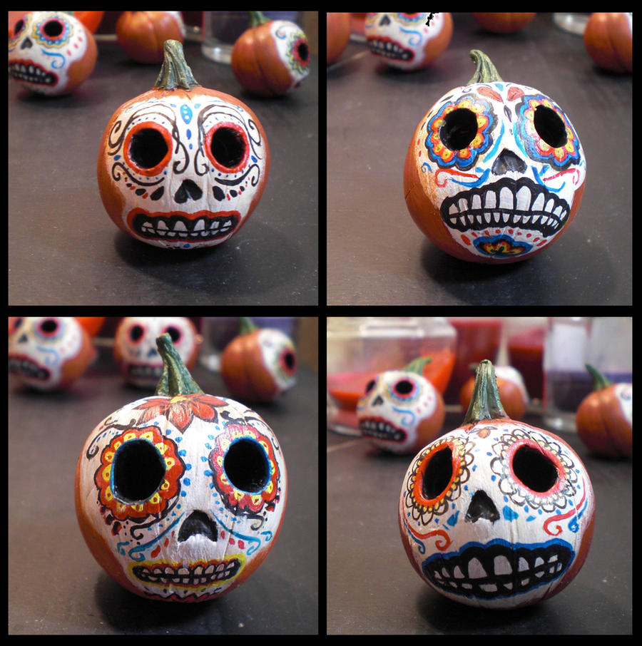 Day of the Dead Pumpkin Heads