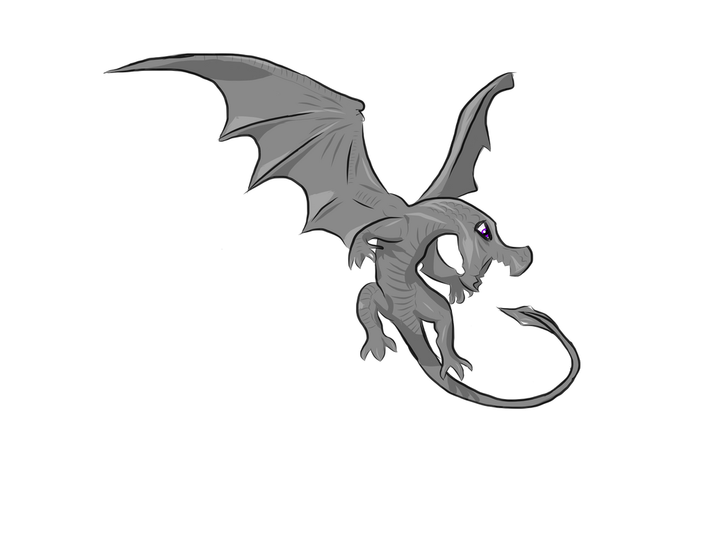 Grey Dragon With Purple Eyes By Kilthunox On Deviantart