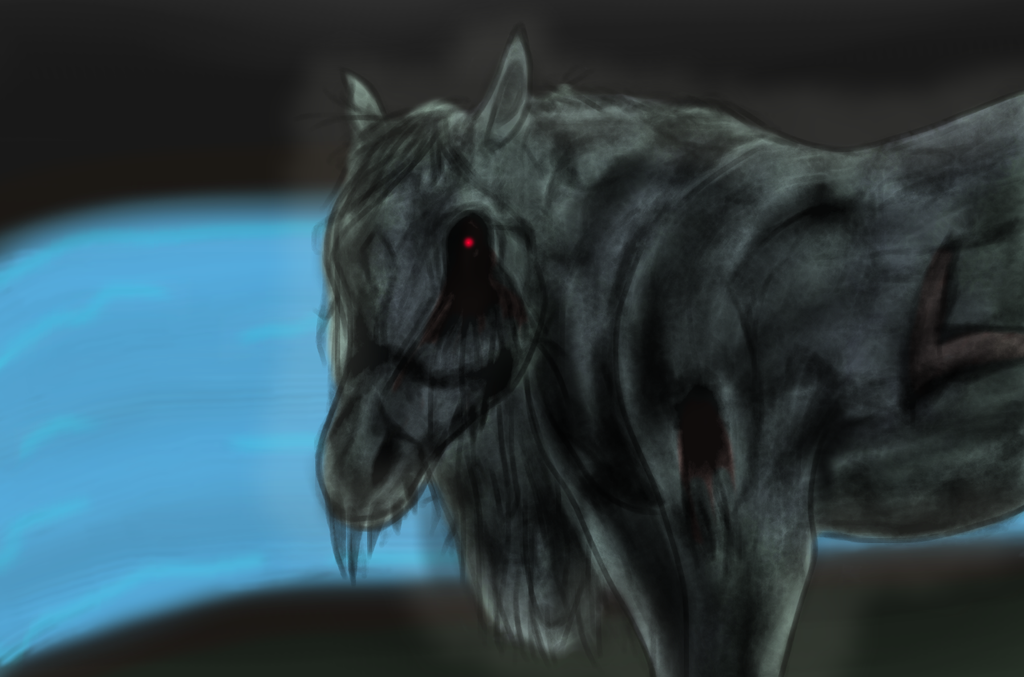 Horror Horse - Krita Test 1 by TheLegendofSmash