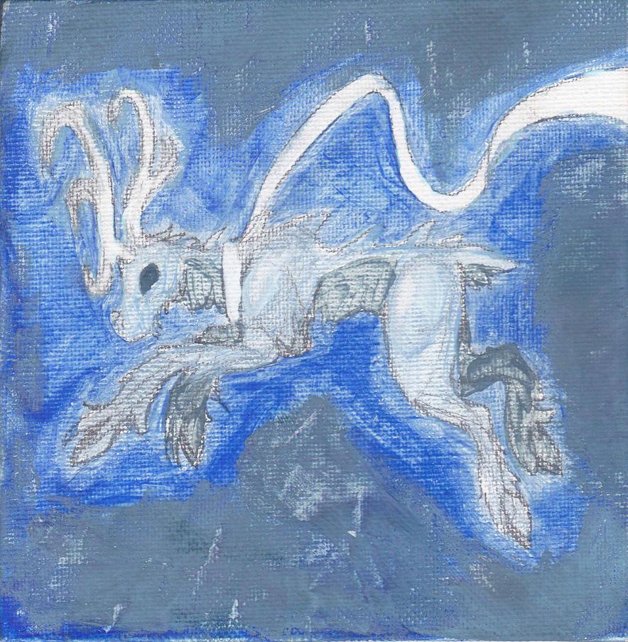 North Star's Reindeer ~TEMPERA ART~ by TheLegendofSmash