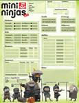 Mini Ninjas Character Sheet