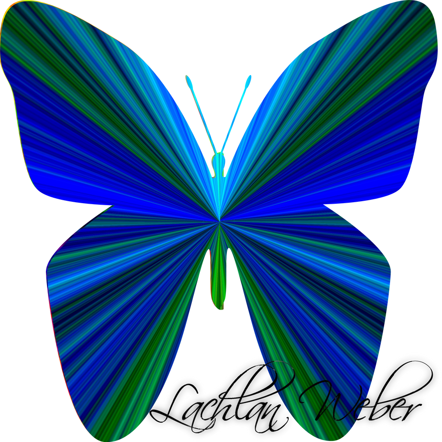 Rainbow Butterfly by LachlanWeber on DeviantArt