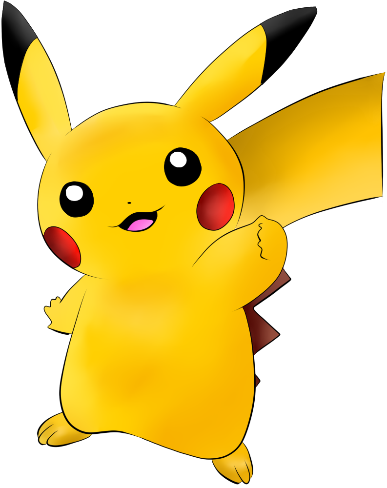 025 Pikachu Colored Lineart By Lilly Gerbil by TrainerTouko