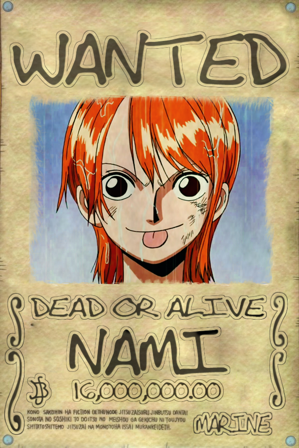 Nami Wanted Poster | www.imgkid.com - The Image Kid Has It!