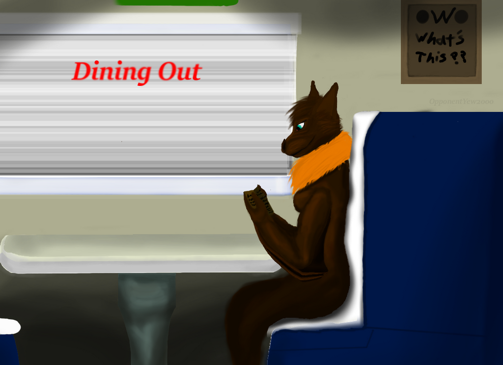 'Dining out' cover by OpponentYew2000