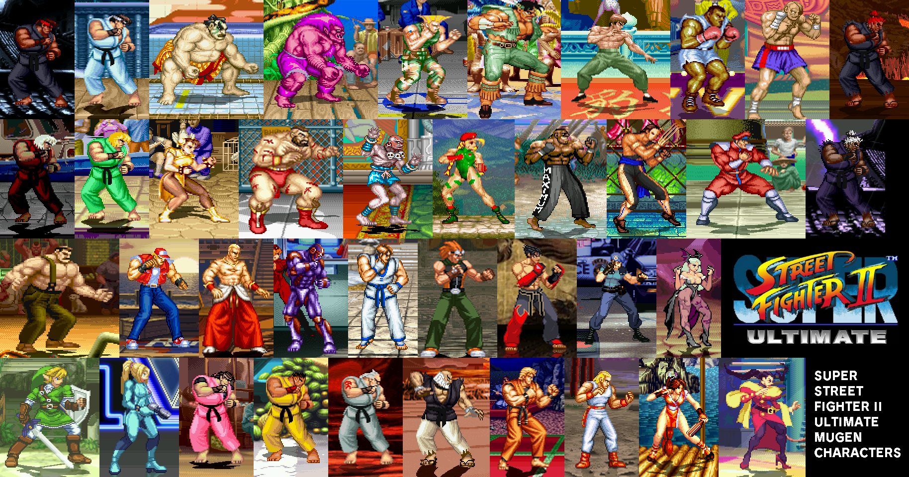 Super Street Fighter ll Ultimate Mugen Characters by