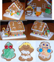 Naruto Gingerbread House