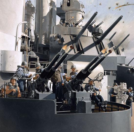 USS North Carolina BB 55 5 by intrepid1708