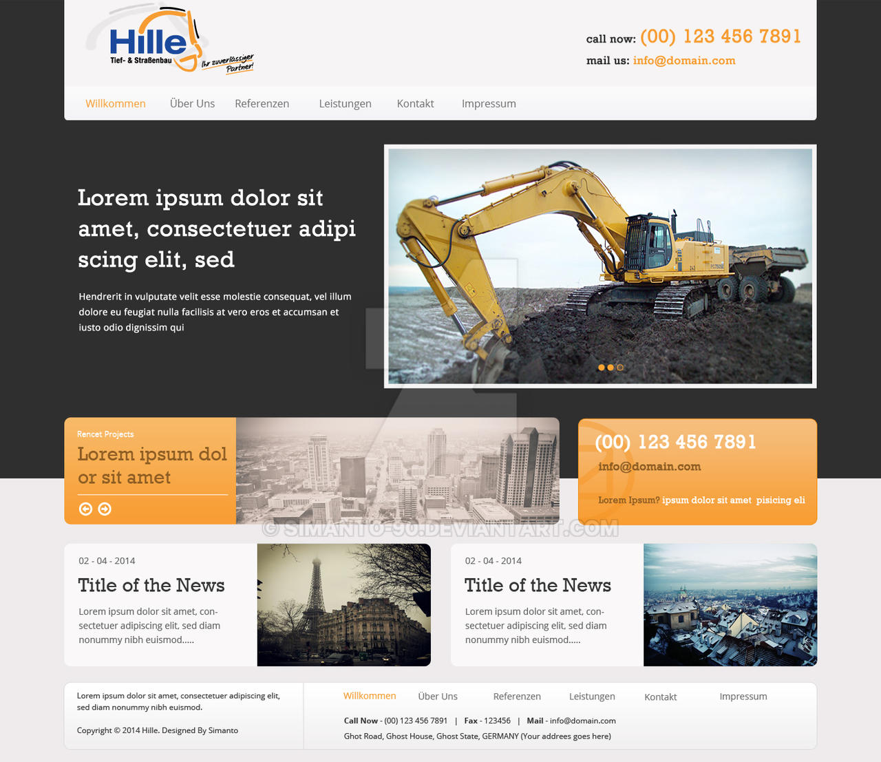 Website Home Page Design By Simanto 90 On DeviantArt
