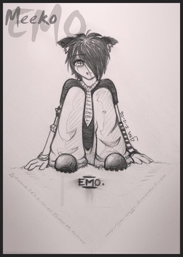 anime drawings emo. - Emo Meeko - by ~JM-anime on
