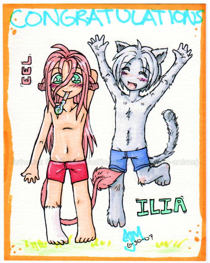 Eel + Ilia chibis