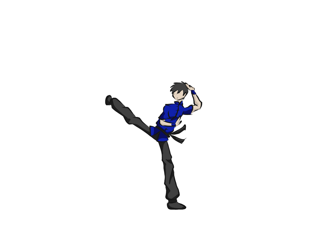 Style Test-Kung Fu Side Kick by Drgn12