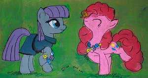 Maud Pie and Pinkie Pie with Rock Candy