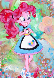 Pinkie Pie at the Sweet Snacks Cafe