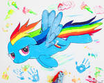 Rainbow Dash, her First Pony