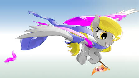 Derpy Hooves after flying through fabric
