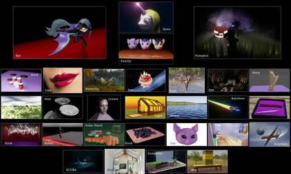 CandyArtVember 3D Compilation