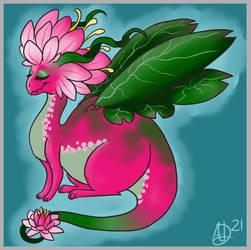 Lil Lotus Dragon Sketch