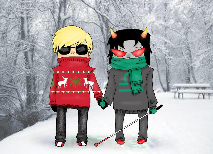 Dave x Terezi Homestuck Secret Santa Request by Uta-no-Kokoro