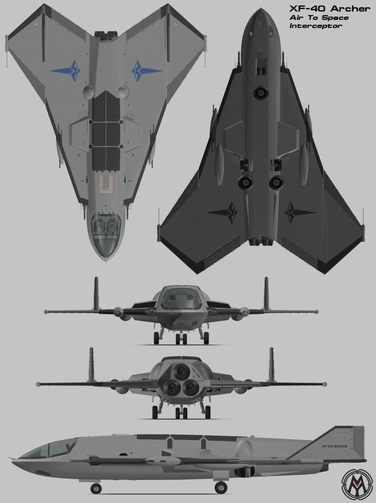 XF-40 Archer Interceptor by MikomDude