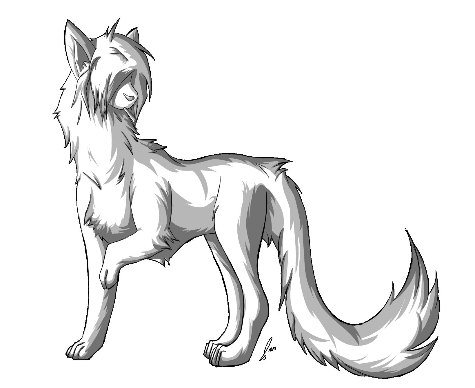 Scenedog Lineart by jaclynonacloud