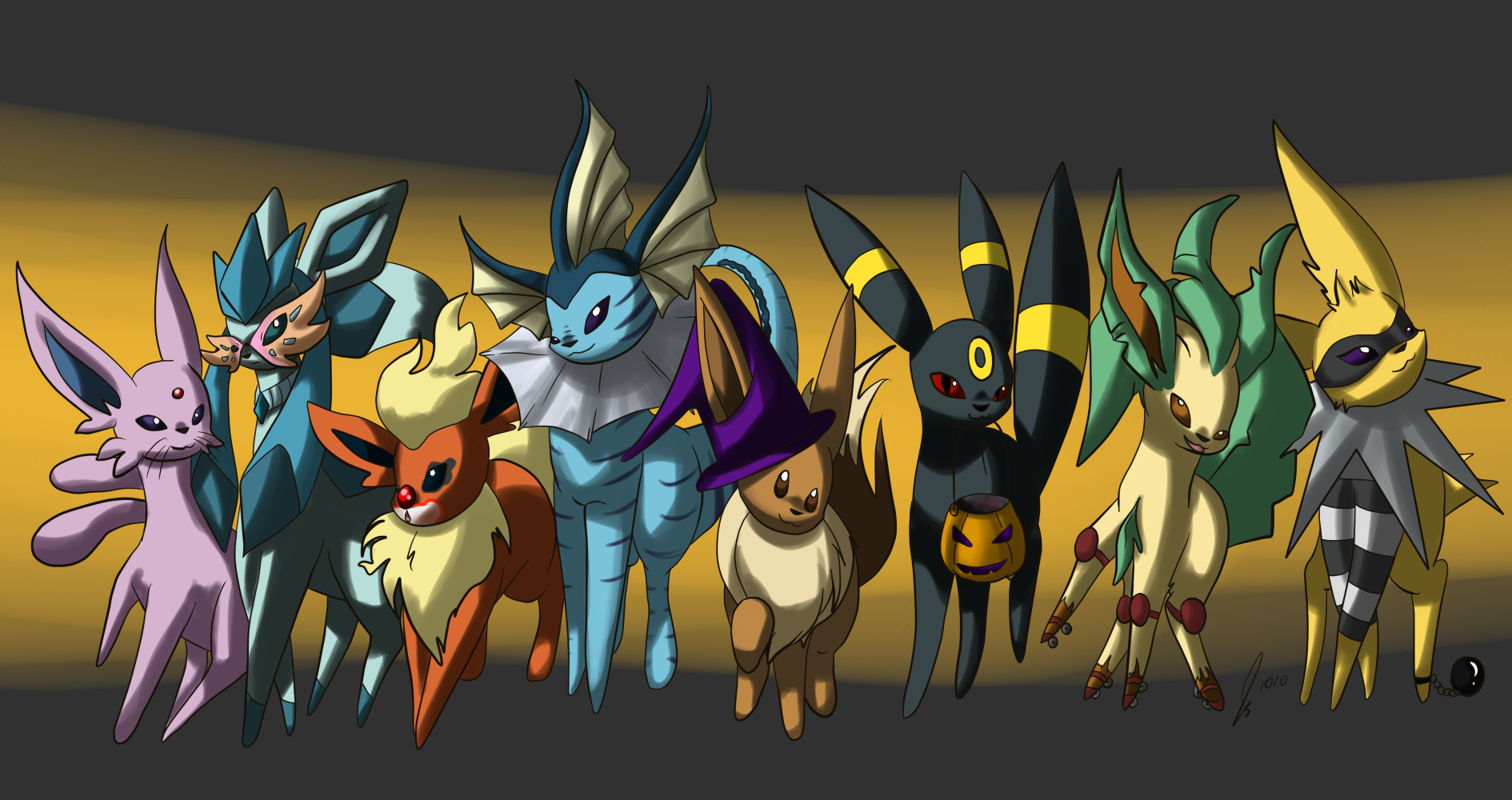 Simple Wallpaper Halloween Eevee - halloween_eeveelutions_by_jaclynonacloud-d300sp9  Graphic_299981.png