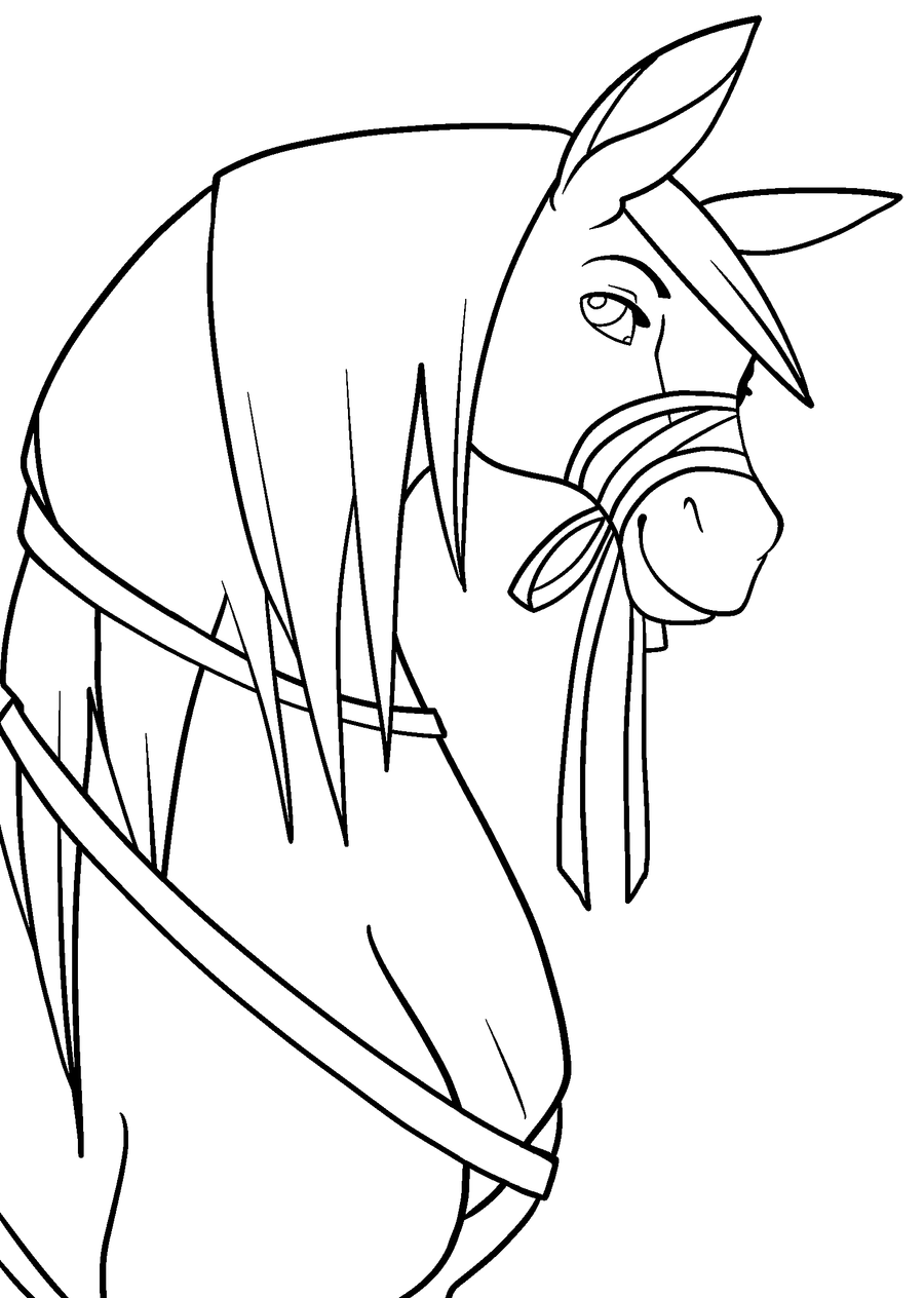 horse face coloring pages - photo#12