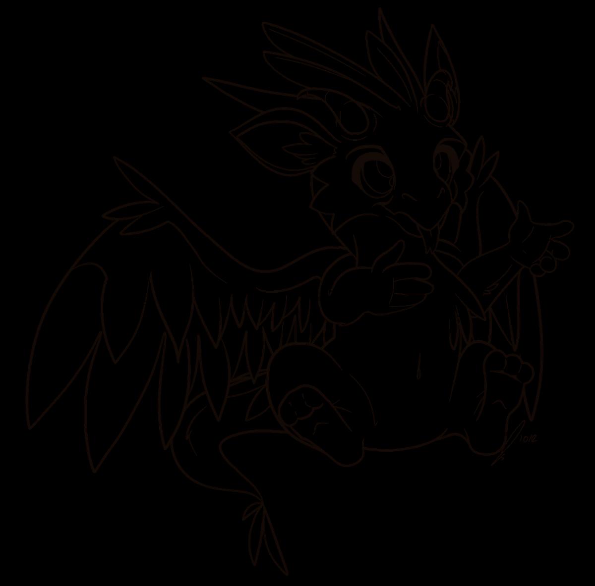 Dragon Whelp Lineart by jaclynonacloud