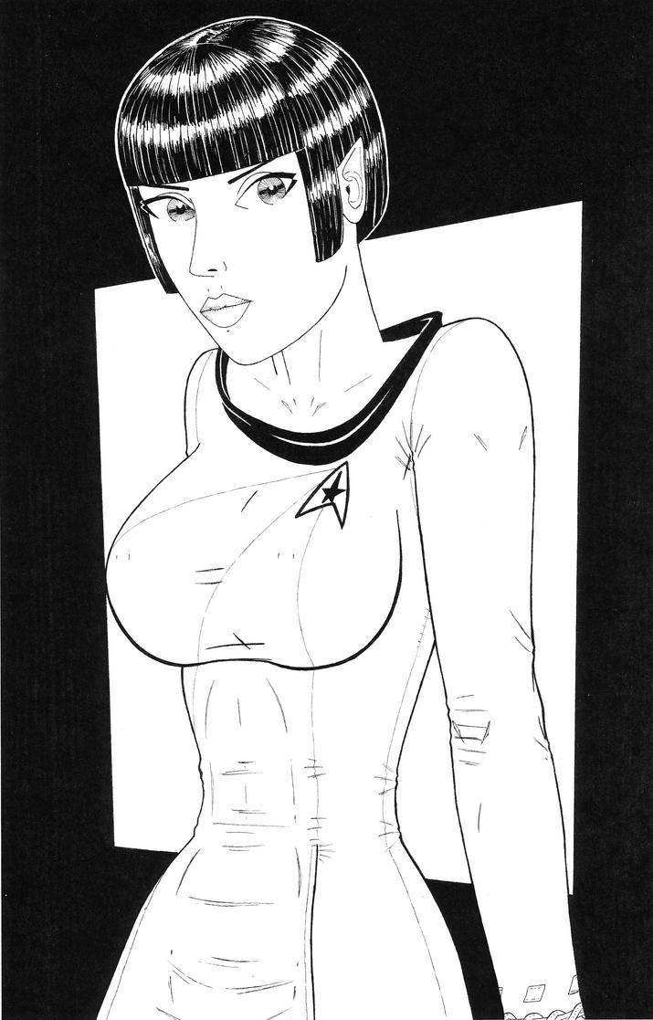 Vulcan Female in TOS Uniform by carlos9435
