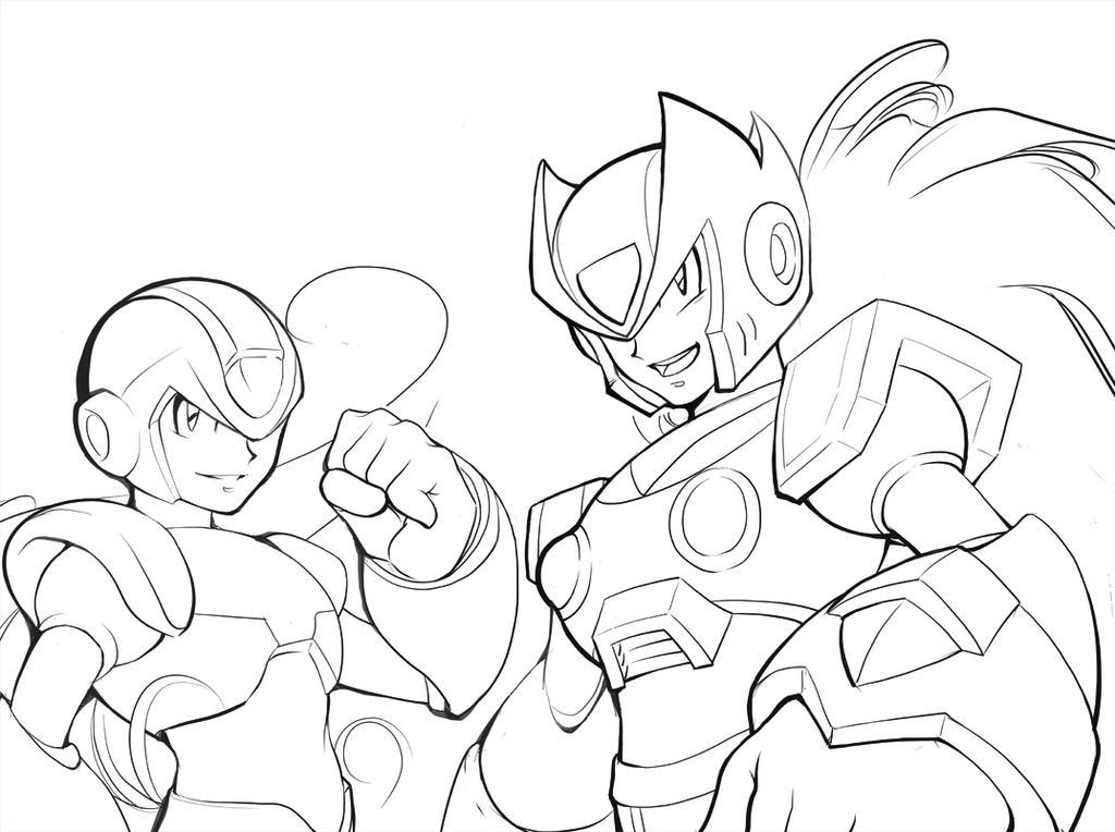 Megaman X and Zero Fan Art by