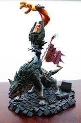 Midna on Wolf Link Sculpture WIP by LONGELF