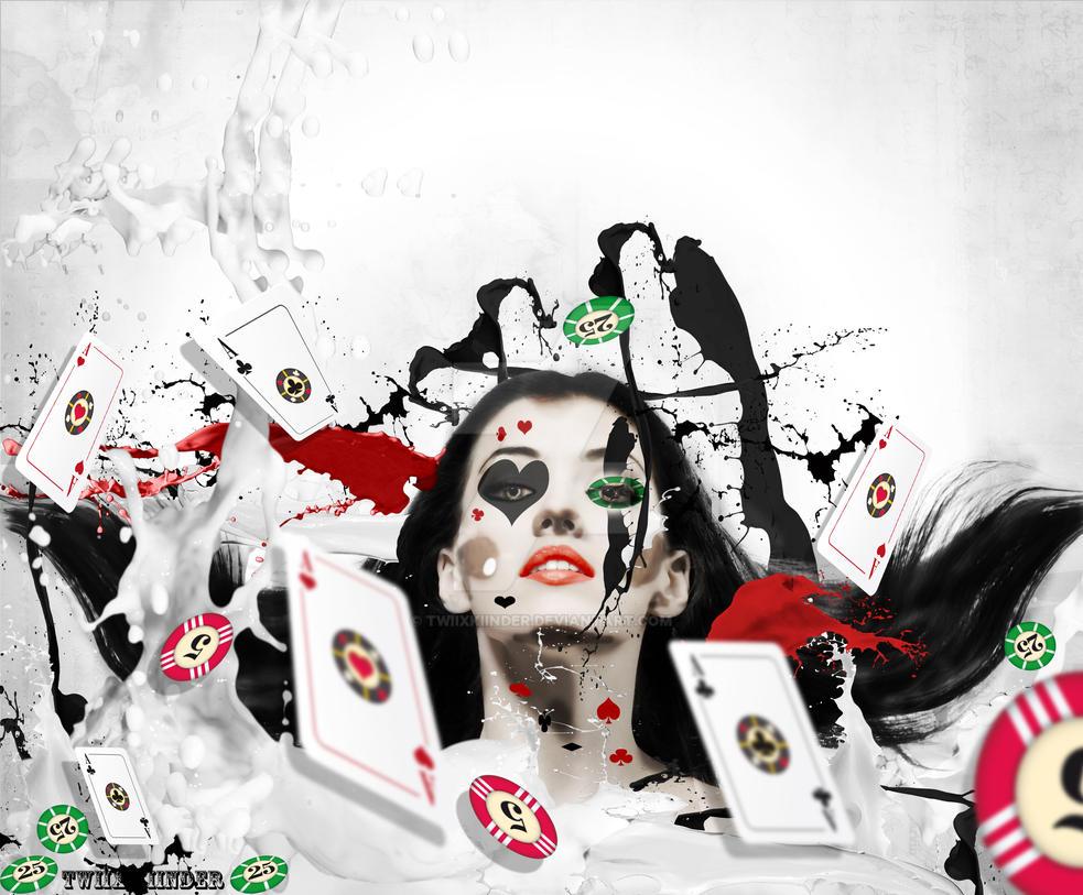 poker girl by TwiixKiinder