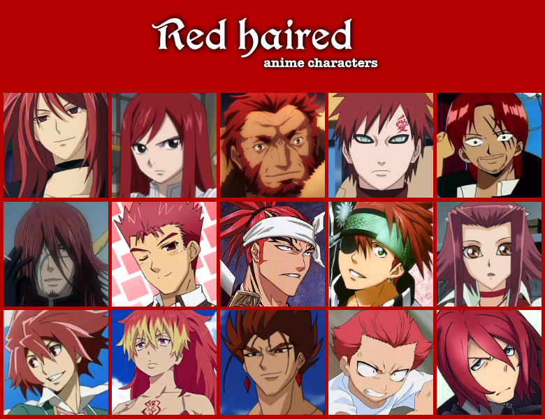 red haired anime characters by jonatan7 on deviantart