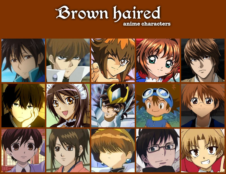 Brown Haired Anime Characters By Jonatan7 On Deviantart