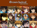 Brown haired anime characters