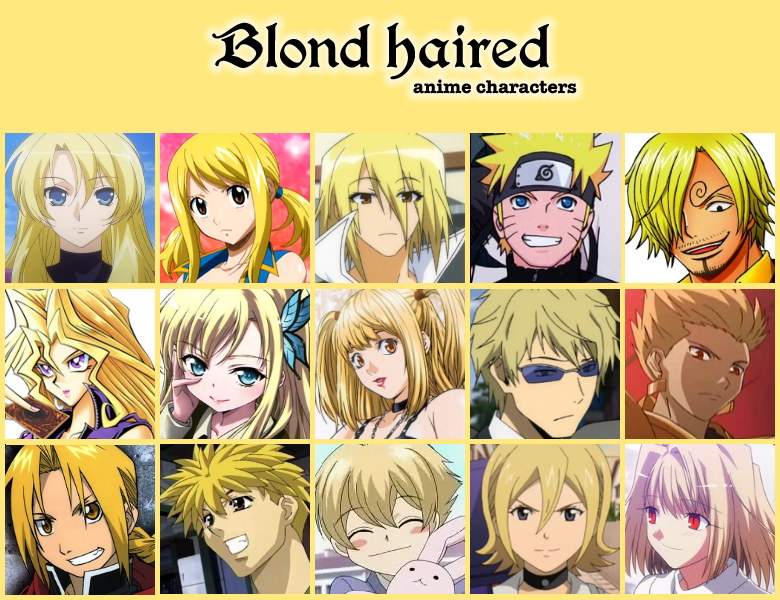 5 7 Anime Characters : Blond haired anime characters by jonatan on deviantart