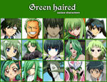 Green haired anime characters